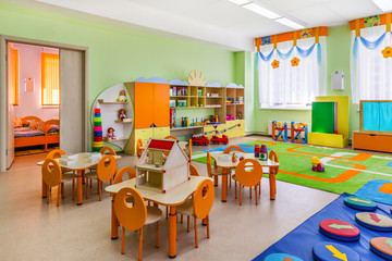 Pre-K classroom with no people