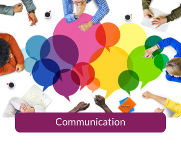 Button link to resources for Communication