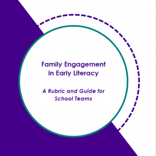 Front Page of Early Literacy Family Engagement Rubric Report