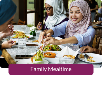 Button link to resources for Family Mealtime