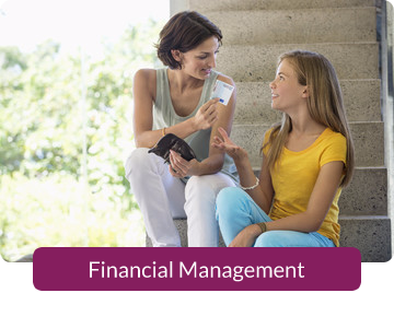Button link to resources for Financial Management