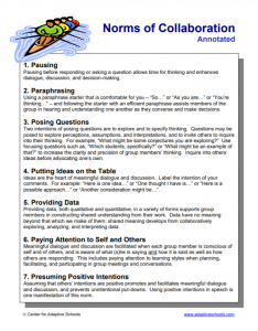 brochure about listening