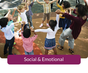Button link to resources for Social & Emotional
