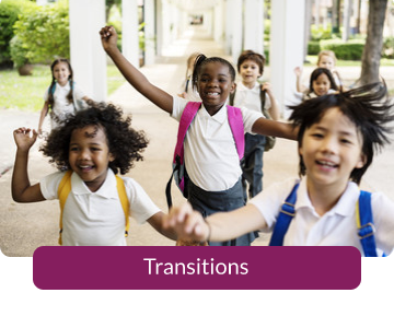 Button link to resources for Transitions