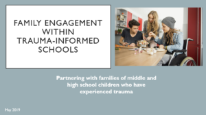 Toolkit first slide for family engagement within trauma-informed schools