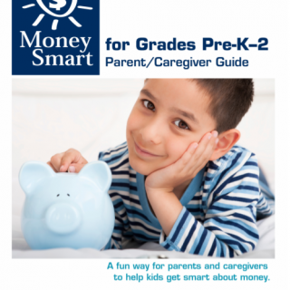 Front Page of Money Smart Report for Grades PreK-2
