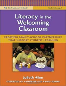 Front cover of Literacy in the Welcoming Classroom book