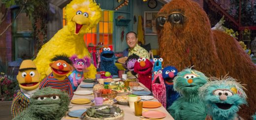 Sesame Street Characters at a Dinner Table