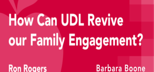 first slide of webinar titled how can UDL revive our family engagement