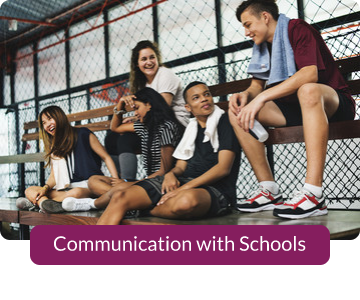 Button link to resources for Communications with Schools