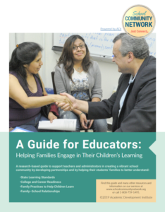 front page of guide for educators