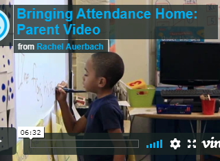 "video called ""bringing attendance home: parent video"" from Attendance Works website"