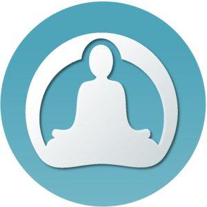 do yoga with me logo which is of a yogi sitting cross-legged