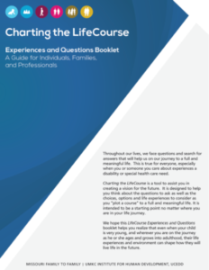 Charting the LifeCourse Experiences and Questions Booklet Cover Page