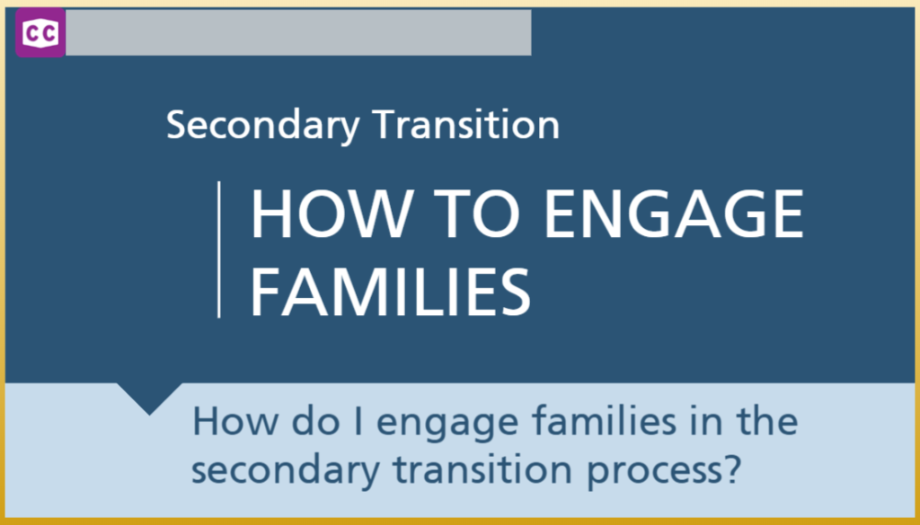 Online Module from ODE: Learn about how your school can support post-secondary transitions