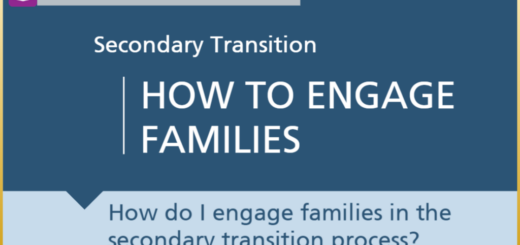 the first slide of the module, titled How to engage families in postsecondary transitions process