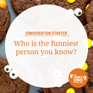 "A conversation starter that says ""Who is the funniest person you know?"""