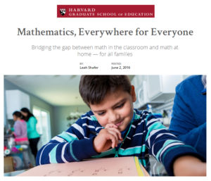 How educators can bridge the gap between math in the classroom and math at home for all families