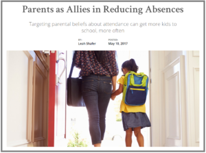 Low Cost Attendance Intervention Involving Families