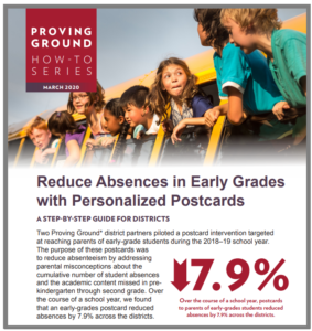 Reduce Absences in Early Grades with Personalized Postcards