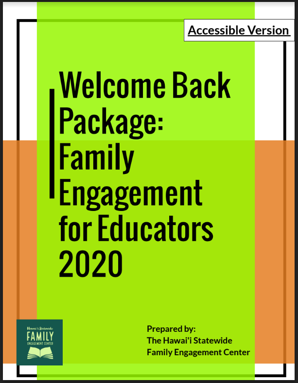 Hawaii 2020 Family Engagement Guide for Educators