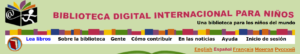 Top of webpage Biblioteca Digital Internacional Para Ninos