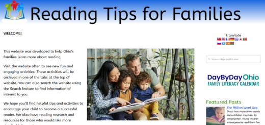 Reading Tips for Families webpage