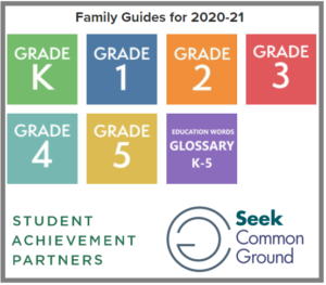Quick Family Guides: Grade Level Expectations for K-5 (Available in English & Spanish)