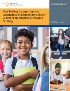 Cover of Can Texting Parents Improve Attendance in Elementary School? A Test of an Adaptive Messaging Strategy