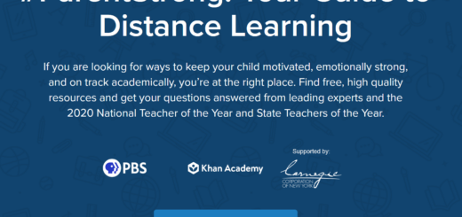 Webpage #ParentStrong: Your Guide to Distance Learning town hall
