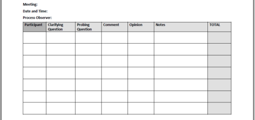Patterns of Participation Tool worksheet