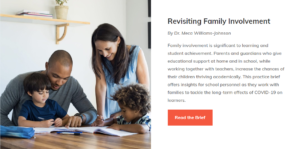 Revisiting Family Involvement: A Practice Brief for All School Personnel