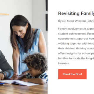 A Practice Brief for All School Personnel: Revisiting Family Involvement introduction
