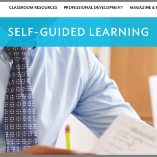 Learning for Justice website homepage