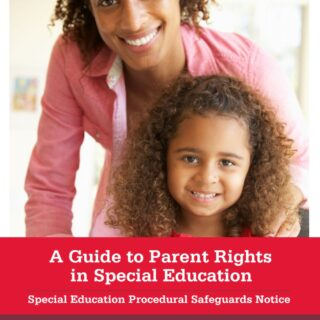 Cover of A Guide to Parent Rights in Special Education. Special Education Procedural Safeguards Notice April 2017 Ohio Department of Education