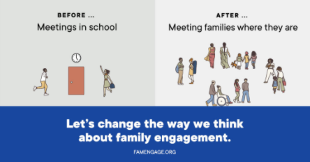 Before...Meetings in school. After...Meeting families where they are. Let's change the way we think about family engagement.