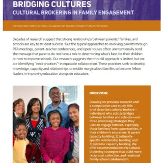 Front page of Building Relationships Bridging Cultures report