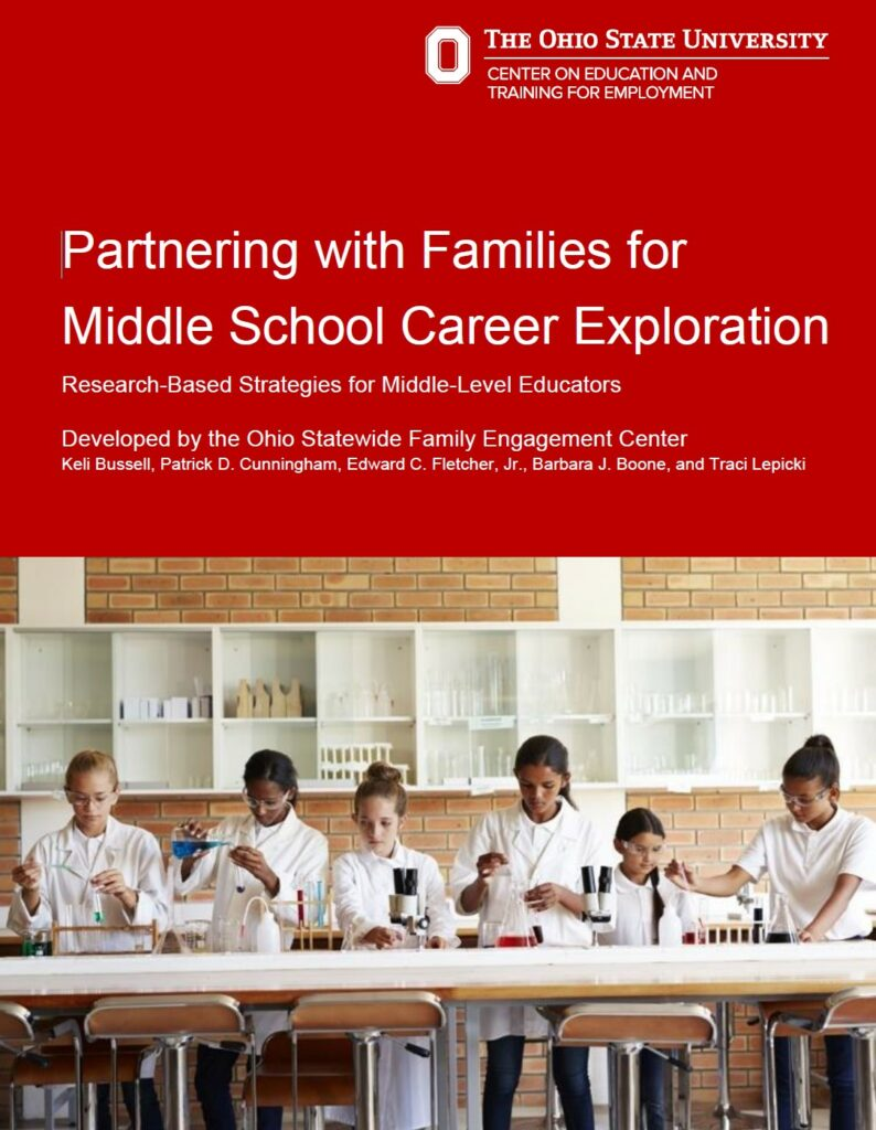 Partnering with Families for Middle School Career Exploration cover