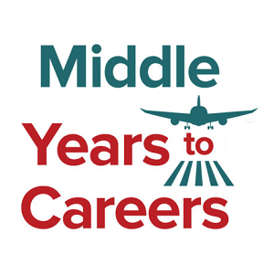 Middle Years To Careers logo with a plane taking off
