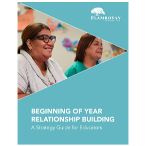 Front page of Beginning of Year Relationship Building A Strategy Guide for Educators