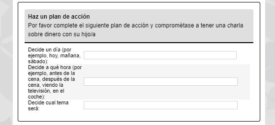 Module 1 in Spanish, Part 3. Haz un plan de accion.